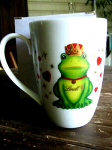Große Tasse/Becher mit Henkel LINDT Motiv Froschkönig/Frosch  Neu! OVP!