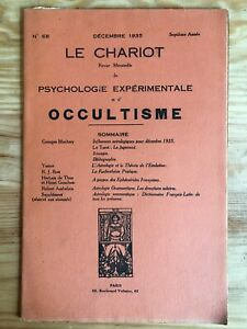 Le Chariot n°68 / Décembre 1935 revue Occultisme Astrologie Philosophie