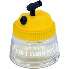 Master Brand Airbrush 3 in 1 Cleaning Pot air Brush Holder paint car