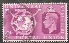 Great Britain Stamp - Scott #278/A119 6p Red Violet Canc/LH 1949