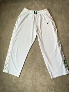 Michigan State Basketball Warm Up Tearaway Pants - Player Issued - 2XL