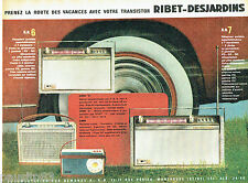 PUBLICITE ADVERTISING 046  1961  Ribet-Dejardins  transistors RN 6 RN7