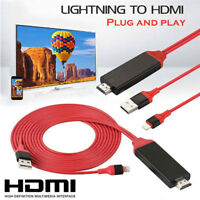 Lightning to Digital TV HDMI Cable Adapter For Ipad air iphone 7 7Plus 8 X APLBP