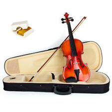Violin 4/4 Full Size Fiddle Gloss Acoustic Solid Wood With Case Bow Rosin