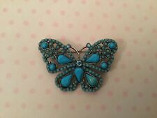 Turquoise Butterfly Brooch - New