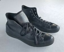 Converse All Star Chuck Taylor Black Leather High Top Mens Size 14