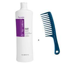 Fanola No Yellow Shampoo Anti-Gelbstich 1l Gratis HairForce Coiffeur Blue Kamm
