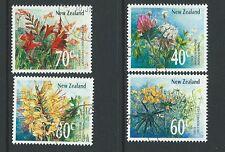 La Nouvelle Zélande 1989 fleurs sauvages ensemble de 4 utilisé fine