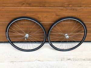 Mavic Open Pro rims Campagnolo Record  hubs wheelset wheel set near MINT
