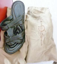 "Woman's Barn Crown  Brown Leather Sandals 4"" Heel Size 9"