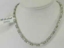 B.Brilliant Sterling Silver Necklace,Cubic Zirconia  Necklace