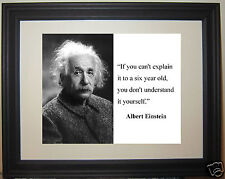 """Albert Einstein """" if you can't...""""  Quote Framed Photo Picture # cp1"""
