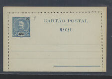 Macau  early  postal  letter  5a    card     unused           WP1028