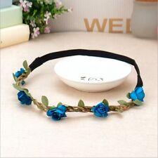 Fashion Rose Flower Hair Band Hollow Elastic Headband Wedding Beach Jewelry