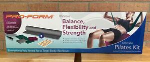 PRO FORM ULTIMATE PILATES KIT Total Body Workout EXERCISE BALL Yoga Mat NIB