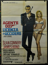 DR. NO  R/1971 BOND 007 ORIG ITALIAN MOVIE POSTER  39X55 SEAN CONNERY