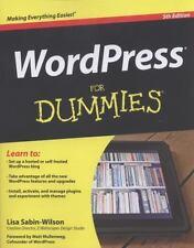 WORDPRESS FOR DUMMIES by Lisa Sabin-Wilson (2012, Paperback)
