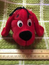 Clifford Big Red Dog Plush W/Mini Book Scholastic Teachers Pets Zipper Key Chain