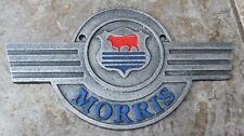 More details for morris minor oxford traveller etc logo 3 colour cast iron advertsing sign
