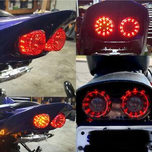 Motorcycle LED Tail Light Dual Turn Signal Brake Stop for Honda Harley Suzuki