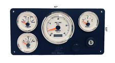 Beta Marine engine instrument panel- 4 White Gauge