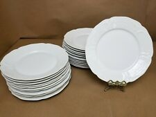 LOT OF TWENTY FOUR (24) Rosenthal Sanssouci White Dinner Plates 10""