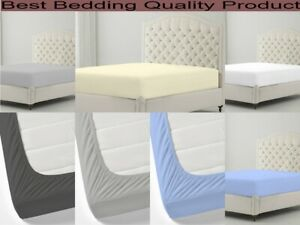 800 TC Premium Fitted Sheet Only Pure Cotton Size And Color Available Easy Deep