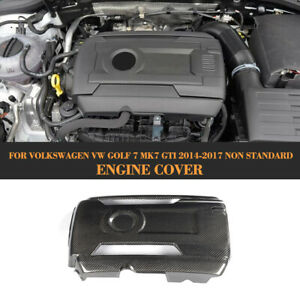 für VW GOLF MK7 GTI 2014-17 Carbon Motorabdeckung Motorhaube Engine Hood Cover