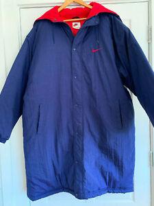 Nike Men's Long Puffer Sideline Jacket Royal Blue Size XL