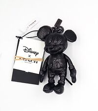 Coach Disney Leather Mickey Mouse Key chain Purse Charm NWT SOLD OUT! F59152