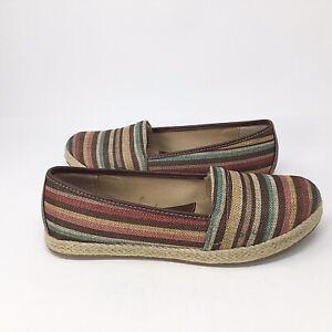 b.o.c~Franki~Striped Espadrille~Shoes~Size 8.5 M~Canvas~Flat~Slip on~Comfort~