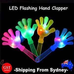 LED Light Hand Clap Clapper Luminous Hands Palms Fluorescent Light Up Toys Party