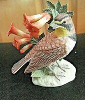 Vintage 2001 Lenox Garden Bird Series HORNED LARK Fine Porcelain Figurine