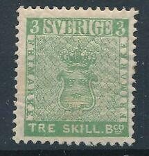 [6057] Sweden 1855 very fine MNH reprint. Value $440. Perforation 13