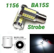 Strobe 1156 BA15S 7506 3497 P21W 33 SMD samsung LED White Rear Signal M1 MA