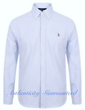 Ralph Lauren Men's Slim Fit Stretch Long Sleeve Striped Oxford Shirt