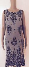 Womens Multi Color Newport News Sleeveless Dress 55%Linen 45% Rayon Dress sz 14
