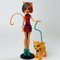 Toralei Stripe  Monster High Freaky Field Trip Doll Mattel 2011 + Sweet Fang Pet
