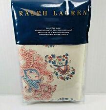 Ralph Lauren Fernhill Euro Pillow Sham Islesboro Paisley Botanical Cream Multi