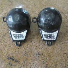 Two Tru Trac 5.5 Pound Weights Vinyl Coated Black