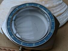 Vintage Gallet Jules Racine MultiChron Pilot Chronograph Powder Blue Bezel,Case
