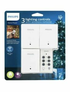 Philips Indoor Lighting Control w/ 1 Wireless Remote & 3 Switches ON/OFF