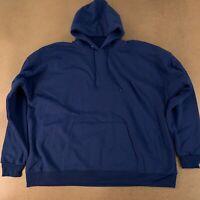 Hanes Men's Size 3XL Navy Ecosmart Fleece Pullover Hooded Sweatshirt P170 New