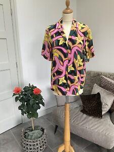 TOPSHOP BOUTIQUE 100% Silk Shirt Sz 10 Bnwt