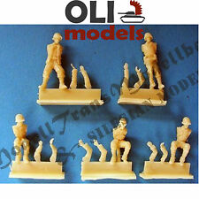 1/72 US Crew for M3 & Jeep (5 figures)  RESIN Figures Set - Modell Trans 72902