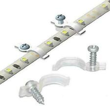 100 Pack Strip Light Mounting Brackets Fixing Clips One Side Screws Included NEW
