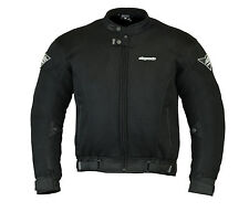 RKSports Mesh Motorcycle Jacket Air Flow Armored Mens Ladies Black RRP £74.99