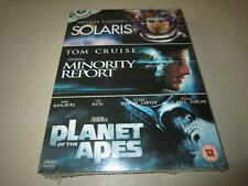 Solaris/Minority Report/Planet Of The Apes (DVD, 2004, 3-Disc Set) **NEW & SEALE