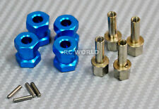 RC 1/10 Scale Anodized Aluminum 15MM WHEEL HUB Extension Spacer  -4 pcs- BLUE