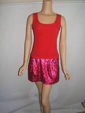NANETTE LEPORE 2 4 SEXY FUCHSIA PINK SEQUINS SILK GORGEOUS Designer Womens Dress